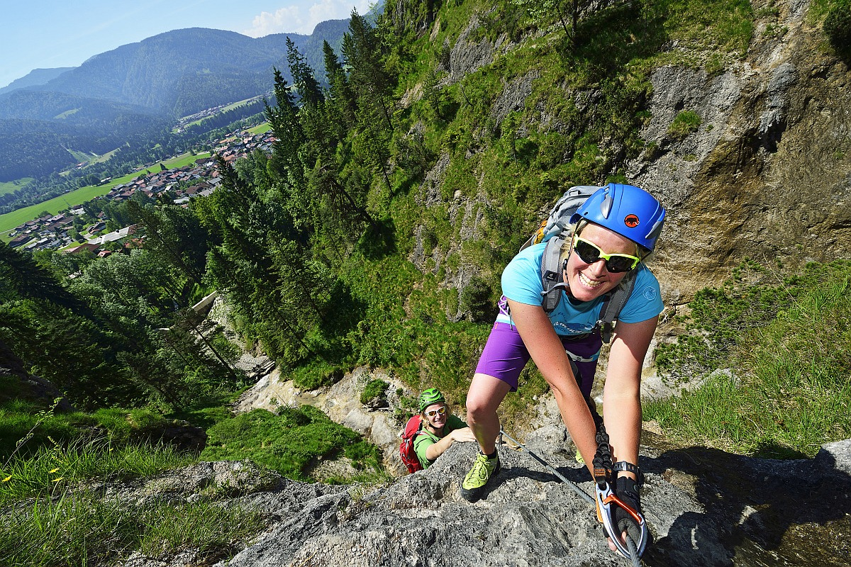 Urlaub im Chiemgau - Klettersteig Reit im Winkl © Eisele Hein